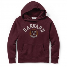 Harvard League Women's Academy Applique Seal Hooded Sweatshirt