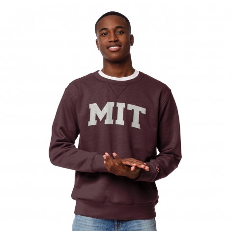 Men's MIT Maroon Stadium Crew Sweatshirt