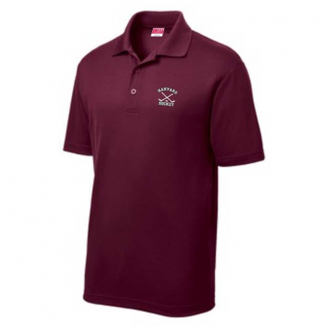 Harvard Hockey Maroon Performance Polo