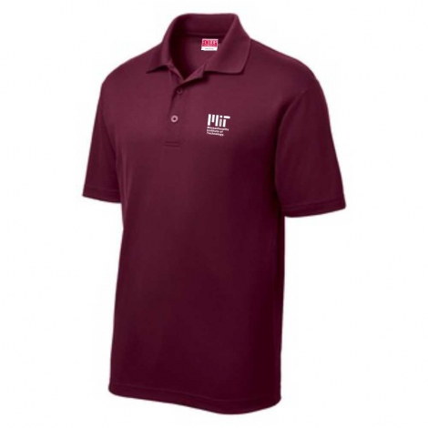 MIT Contemporary Maroon Performance Polo