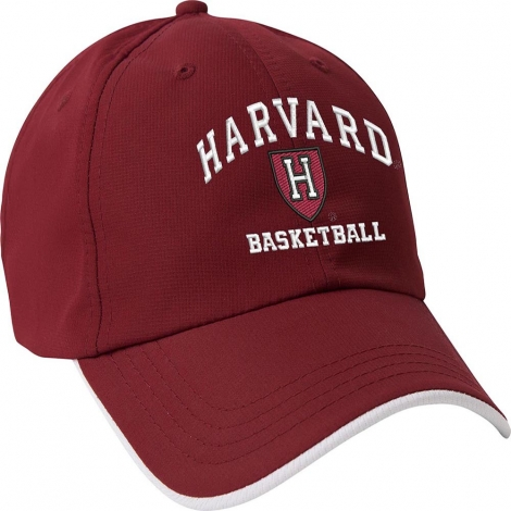 Harvard Basketball Crimson Athletic Shield Hat