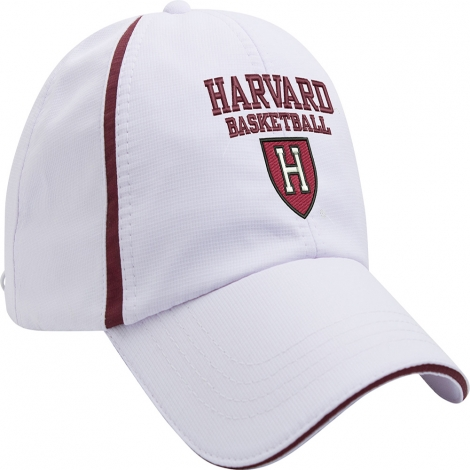 Harvard Basketball Athletic H White Hat