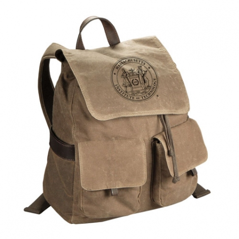 MIT Waxed Cotton Canvas Rucksack