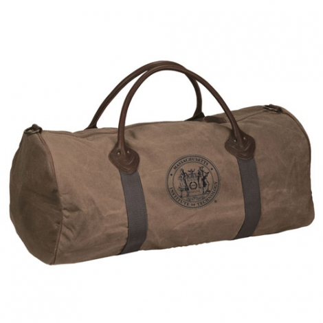 MIT Seal Waxed Cotton Canvas Tote Bag