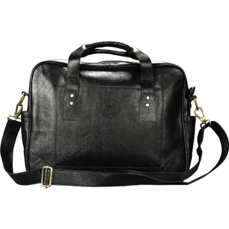 MIT Leather Black Briefcase