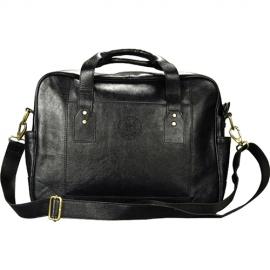 MIT Leather Black Briefcase