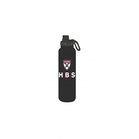 Harvard Business School Takeya 40 oz Black Water Bottle