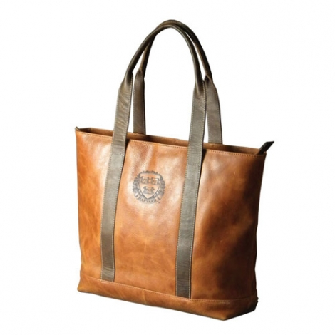Harvard Two-Tone Leather Tote