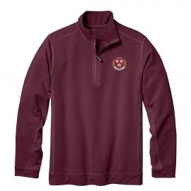 Tommy Bahama Harvard 1/2 Zip Maroon Sweatshirt