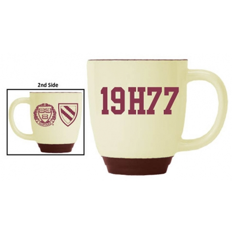 Harvard Maroon-Almond Bistro  Class of 1977 Mug