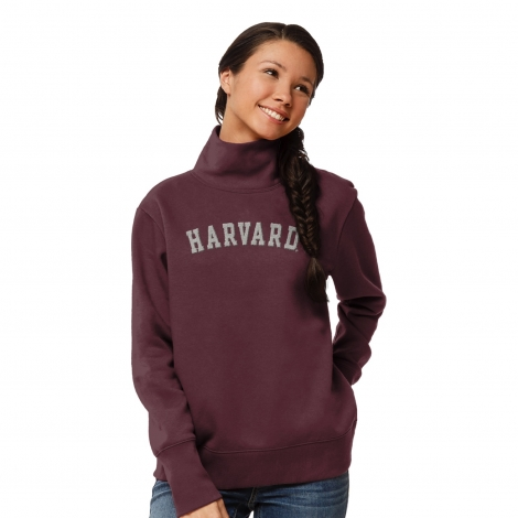Women's Harvard Fleece Turtleneck Sweatshirt