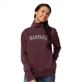 Harvard League Women's Fleece Turtleneck Sweatshirt
