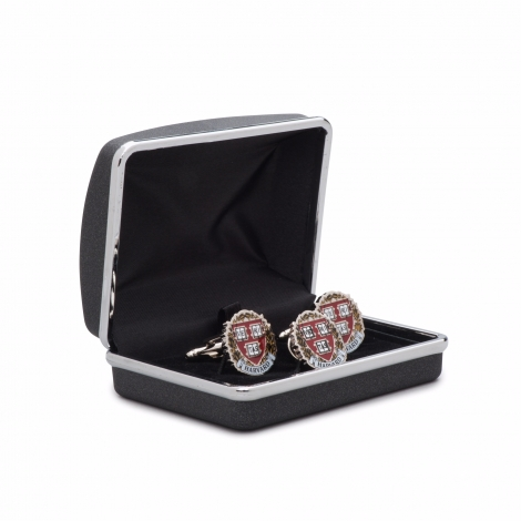 Harvard Cufflinks and Lapel Pin Set