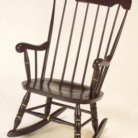 Harvard Black Silkscreened Rocking Chair