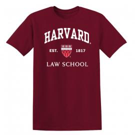 Harvard Law School Champion Seal Tee Shirt with Establish Date
