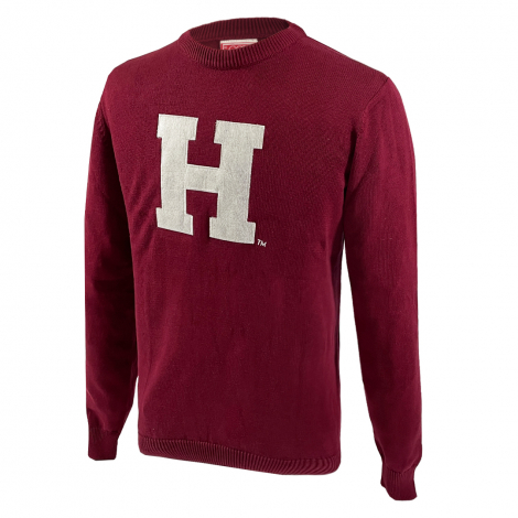 Harvard Traditional Cotton Letter Crew Neck Sweater