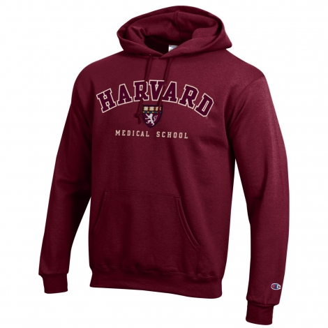 Harvard Medical School Applique Seal Hooded Sweatshirt