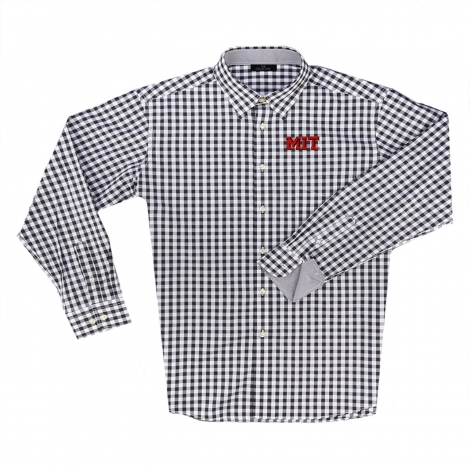 MIT Men's Gingham Button Down