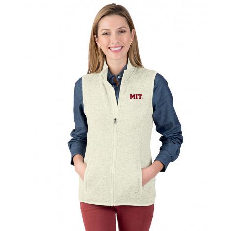 MIT Women's Heathered Sweater Fleece Vest