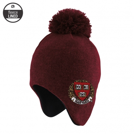 Harvard Toddler Winter Knit With Pom