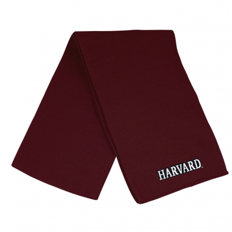 Harvard Basic Knit Scarf