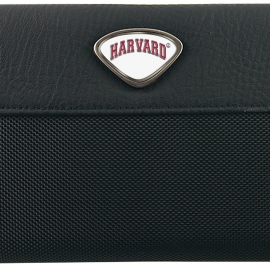 Harvard Passport Wallet with Custom Medallions