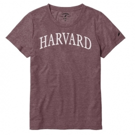 Harvard League Women's Arched Logo Reclaim Tee Shirt