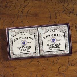 Harvard Screencraft Tileworks Set of Marble Coasters Entering Harvard Square