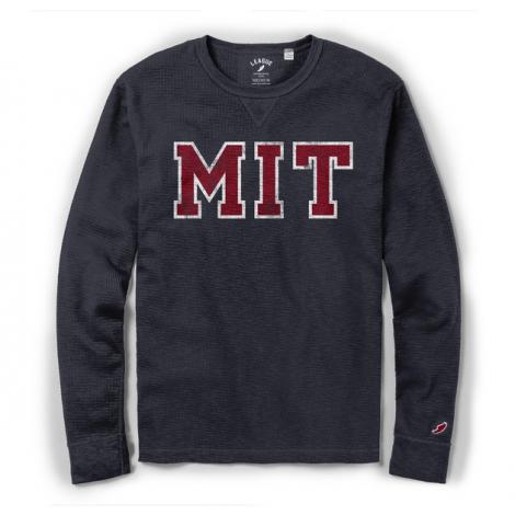 MIT League Slub Thermal Waffle Knit Long Sleeve Tee