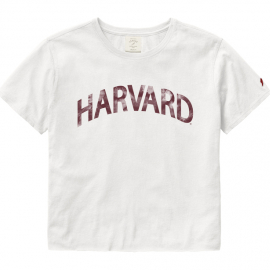Harvard League Women's Clothesline Cotton Crop Tee Shirt