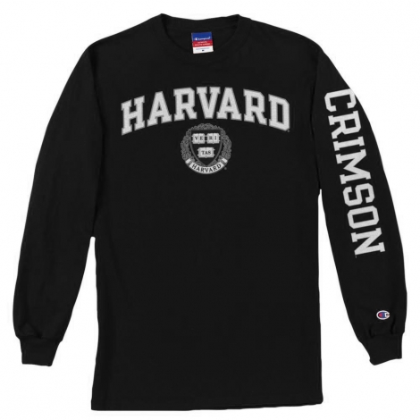 Youth Harvard Long Sleeve Jersey Tee with Sleeve design