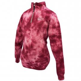 MIT Tie Dye 1/4 Zip Crosswind Sweatshirt
