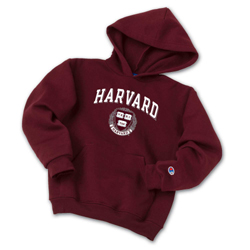 Youth Maroon Harvard Hooded Sweatshirt