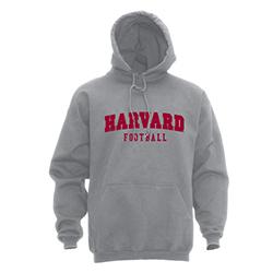 Grey Hooded Football Hooded Sweatshirt