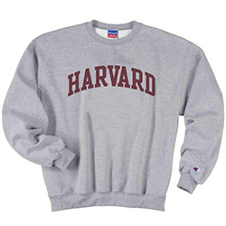 Grey Harvard Crew Neck Sweatshirt