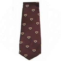 Harvard Maroon Business School Shield Tie