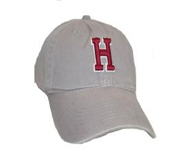 Grey H Unstructured Hat