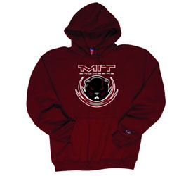 Maroon Beaver Hooded Sweatshirt