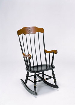 MIT Black w/Cherry Rocking Chair