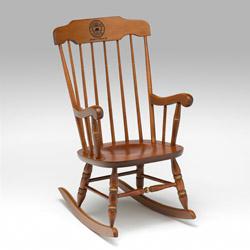 MIT or Sloan Laser Engraved Cherry Rocking Chair