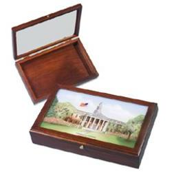Harvard Eglomise Color Print Medium Desk Box