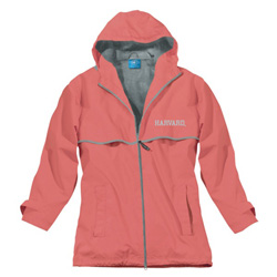 Women's Harvard New Englander Coral Rain Jacket