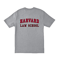 Harvard Law School Shield Grey T Shirt