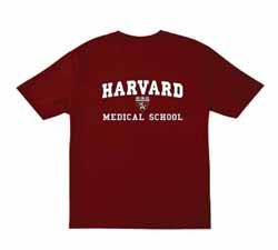 Harvard Medical Shield School Maroon T Shirt