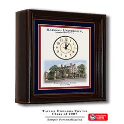 Harvard Color Print Desk Clock