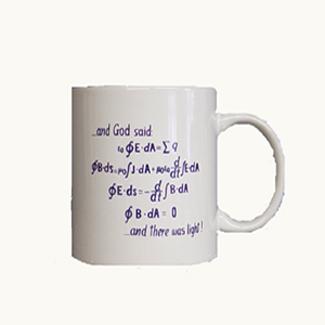 And God Said White  Mug