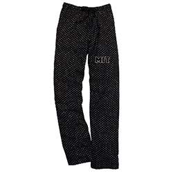 MIT Black Swiss Dot Pants