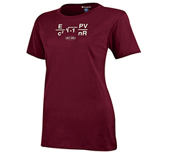 MIT Math Equation Women's Maroon T Shirt