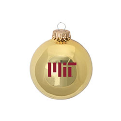 MIT Glass Ball Glossy Gold  Ornament