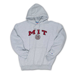 MIT Seal Hooded Grey Sweatshirt